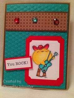 2 Cute Ink Digital Stamps Challenge Blog: First Challenge!!- cute card made by DT member Deanette using Country Chick Digital Stamp.