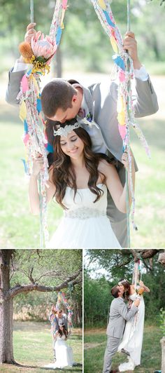 Our wedding location at my sisters home has a swing like this! Can't wait for this photo!