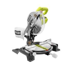 Ryobi 14-Amp 10 in. Compound Miter Saw in Green-TS1345L - The Home Depot... buy to build furniture