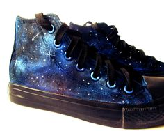 Custom handpainted galaxy sneakers,personalized shoes, galaxy converse, galaxy vans - pinned by pin4etsy.com