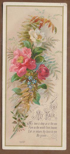 C412 Bright Victorian Valentine Card | eBay