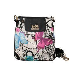 #BESTSALE #COACH Coach Butterfly Poppy Small White Multi Crossbody Bags EPO