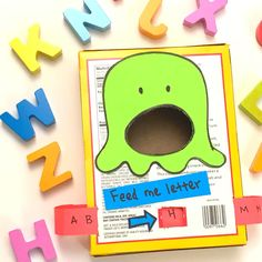 Feed the Monster Preschool Letter Matching Activity - Happy Tot Shelf Toddler Learning Activities, Preschool Learning Activities, Preschool Activities, Art Activities For Preschoolers, Cutting Activities For Kids, Letter O Activities, Emotions Preschool, English Activities For Kids, Fun Worksheets For Kids