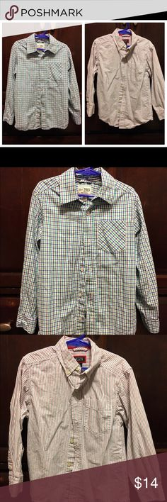 Boys button down shirts Both are from The Children's Place, great condition and same size. Children's Place Shirts & Tops Button Down Shirts