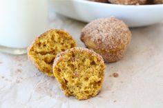 Baked Pumpkin Donut Holes from www.twopeasandtheirpod.com #recipe #pumpkin