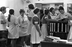 """Mass. General Hospital student nurses in """"old"""" caps, Boston by Boston Public Library, via Flickr"""