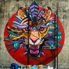 """Scream"" by Farid Rueda | Mexico | Street Art | Street Artists | Artists in Mexico | Mexican Street Art | Art | modern art | urban art | mural | graffiti | travel | Schomp MINI"
