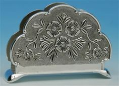 Antique Look Silver Plated Petite Napkin Holder Tea Parties  $9.99