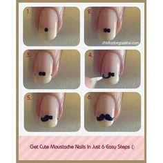 #Mustache Nails