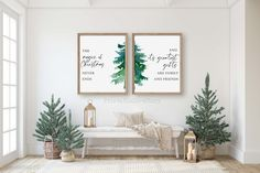 The magic of Christmas,Entryway Christmas decor,Living room Christmas decorations,Christmas prints,Christmas tree wall art,Holiday wall art by PrintableLoveStory on Etsy
