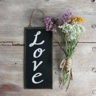 """Love"" Chalkboard #decoration #mrwonderful #love"