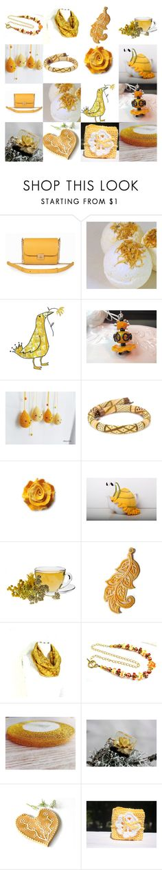 Sunshine by andreadawn1 on Polyvore featuring gift, etsy, handmade and yellw