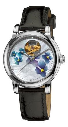 Tissot Women's T0502071610600 Heart Automatic Purple Open Dial Watch. Price: $539.48 (discounted from 825 USD)
