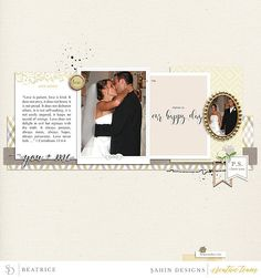 Scrapbook Inspiration | Sahin Designs | Special Day Collection spring, wedding, celebrate, scrapbook layout