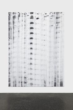 Keith Farquhar Badly Primed Canvas #2, 2015 acrylic gesso on canvas 243,8 x 182,9 x 4 cm