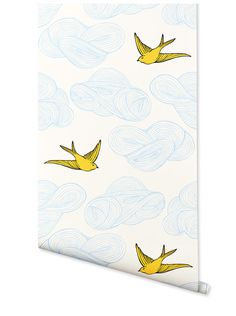 Oooh, I love this colorway too. [Hygge & West   Daydream Wallpaper (Almost White/Sunshine)] #gethygge