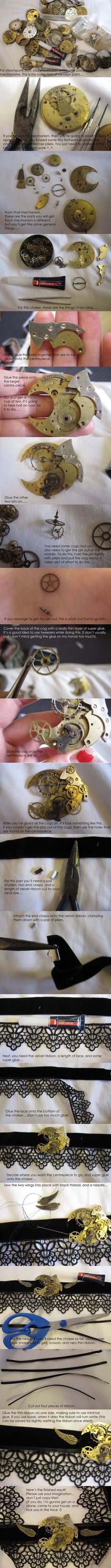 Steampunk jewellery tutorial