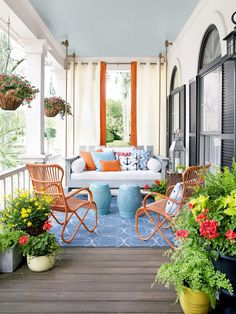 You will be excited to display your porch! There are lots of big screened in porches where it's possible to do just about anything to them to prepare for Spring weather. It allows you to brighten up your porch for… Continue Reading → Outdoor Rooms, Outdoor Living, Outdoor Decor, Outdoor Seating, Outdoor Curtains, Front Porch Seating, Outdoor Lounge, Front Porch Curtains, Deck Seating