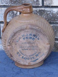 Vintage Ceramic Tullamore Dew Irish Whiskey Jar Jug