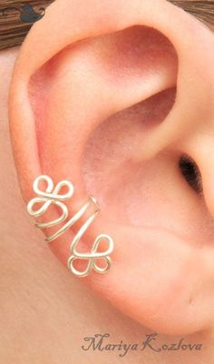 Celtic Clever Ear Cuff Silver Color by KOZLOVA on Etsy