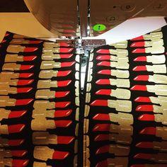 Lipstick print toiletries bag in progress 💄💄💄