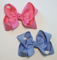 Large Hair Bow Set Big Girls Childrens Kids Boutique  Fashion Hair Clip Hairbows Hair Accessories (Set of 2) Choose Colors. $6.98, via Etsy.
