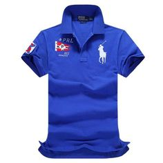 17062d11cada6 Ralph Lauren RL Polo Shirt Men Clothing Solid Mens Polo Shirts Business  Casual Polo shirt Cotton Sportswear Breathable