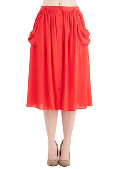 Just Dandy Skirt in Poppy, @ModCloth