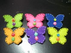 6 pcs Colourful Butterfly Brooch by MalaysianHandmade on Etsy, $12.00