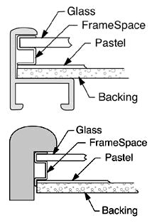 Matless Pastel Framing — And other pastel framing tips, Picture Frame Spacers, Frame Tek, Inc.