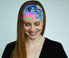 Workout headband Yoga headband Womens wide by WildandFreeFashion