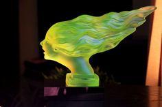 Periods & Styles Art Deco Vaseline Glass Spirit Of Ecstasy Rolls Royce Car Mascot Modern Design Rolls-royce & Bentley