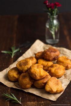 Mini sweet potato doughnuts.