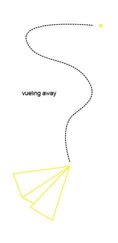 Diseño para un concurso de Vueling, buscaban un diseño en negro y amarillo.