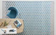 The Apotema rug by Calligaris is inspired by Japanese origami. The editors at RugNews.com suggest pairing it with light furniture so the gradient can take full effect.