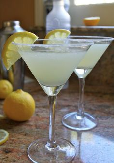 The Best Lemon Drop Martini You'll Ever Have…but add a shot of peach schnapps and then it will really be the best you'd ever had.