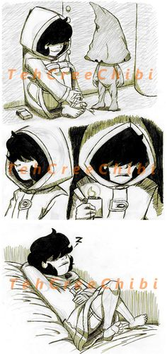 Six sketches by tehcreechibi