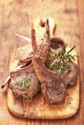 Côtelettes d'agneau grillées au thym