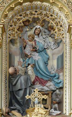 Sermo Veritas — Our Lady of the Rosary pray for us! Catholic Religion, Catholic Saints, Catholic Art, Roman Catholic, Religious Icons, Religious Images, Religious Art, Blessed Mother Mary, Blessed Virgin Mary