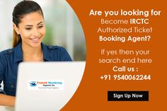 Are you looking for Become IRCTC Authorized Ticket Booking Agent? if yes then your search end here Call us +91 +91 9540062244 & start your travel business. Know more visit : http://www.starttravelagency.in/