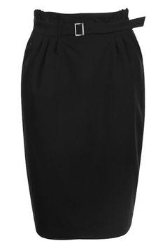 #romwe Pleat High Waist Black Skirt  $37.99 #Romwe