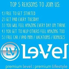 And So many More!!! Free Customer sign up~ FREE Promoter Sign up~ Free website~ Start living the LIFE that YOU deserve! JOIN my team @  Http://KimBoehl.le-vel.com
