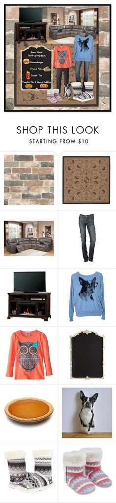 """Friendsgiving My Daughter and I"" by aurorasblueheaven ❤ liked on Polyvore featuring Wall Pops!, 7 For All Mankind, Joe's Jeans, Dimplex, Beautees, Pier 1 Imports, M&F Western and Accessorize"