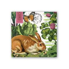 Garden Bunny Cocktail Napkins from Because I Like U