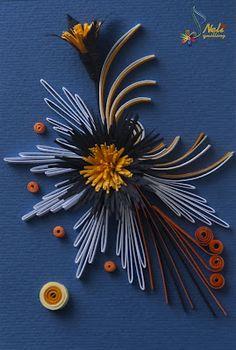 A quilled starburst flowers arrangement - by: Neli