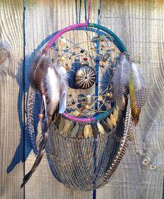 Multi color Gypsy/ Boho inspired dream catcher by Radishmebaby, $39.00