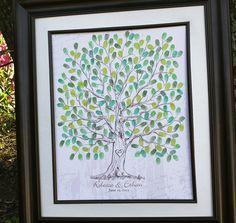Wedding Guest Book Ideas Hand drawn Wedding Guest by fancyprints, $40.00