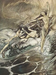 Arthur Rackham. The Rhinegold and the Valkyrie.