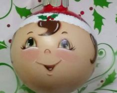 Browse unique items from GrannyKstreasures on Etsy, a global marketplace of handmade, vintage and creative goods. Gingerbread Ornaments, Christmas Ornaments To Make, Angel Ornaments, Christmas Elf, Christmas Balls, Christmas Projects, Diy Ornaments, Xmas Crafts, Christmas Ideas