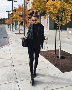 Black clothes head to toe